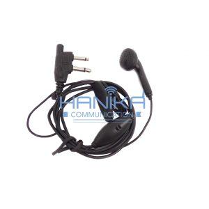 Earmic Handie Talkie IC-V80 Alinco Colok Bawah Handsfree DJW10 DJCRX3
